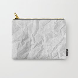 WRINKLED WHITE PAPER SHEET Carry-All Pouch