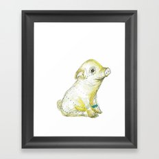 Pig Illustration Framed Art Print