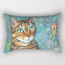 Kitty's Daydream by Robynne Rectangular Pillow