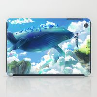 the whale iPad Cases featuring Whale by Marta Milczarek