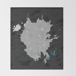 San Antonio Texas Minimalist Map (Dark) Throw Blanket