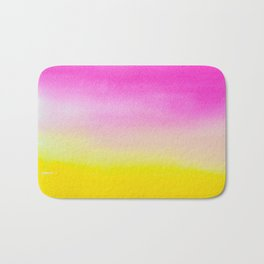 Abstract painting in modern fresh colors Bath Mat