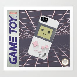 GAMETOY - White Pink         Game Boy, toy, Gameboy Art Print