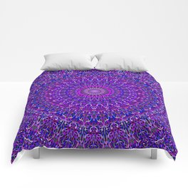 Lace Mandala in Purple and Blue Comforters