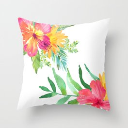 Vintage flowers in color Throw Pillow