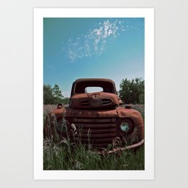 Truck on a Hill Art Print