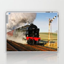 46115 Scots Guardsman Steaming Through Hellifield Laptop & iPad Skin