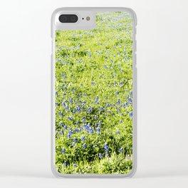 Texas Bluebonnet Field Clear iPhone Case