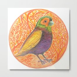 Bird in a Thicket Metal Print