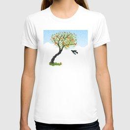 Bird and Apple Tree T-shirt