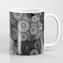 Heavy iron / 3D render of hundreds of heavy weight plates Coffee Mug