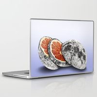 astronomy Laptop & iPad Skins featuring In which there is a mandarin in the moon by J.P Ormiston