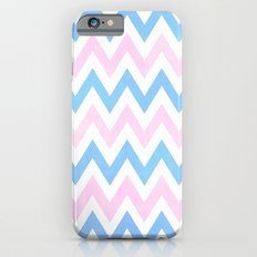 Blue pink Chevron Pattern Slim Case iPhone 6s