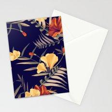 Dark elegant tropical mix Stationery Cards