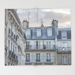 Paris Architecture Throw Blanket