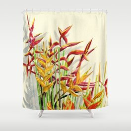 Heliconia Bouquet Shower Curtain