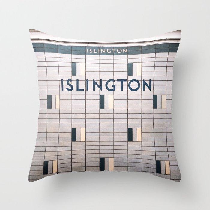 Islington Station Toronto Subway Sign Throw Pillow By Stationtoronto Society6