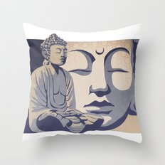Zen Buddha: Awakened and Enlightened One Throw Pillow