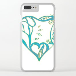 Birth Hearts No.8 - Green Clear iPhone Case