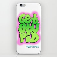 fresh prince iPhone & iPod Skins featuring Fresh Prince by DeMoose_Art