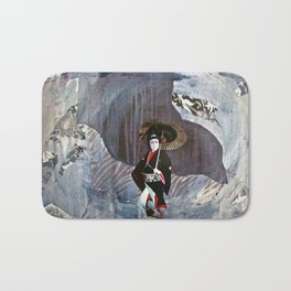 Out of the Cave, Into the Storm, the Hero Prepares for the Next Battle Bath Mat