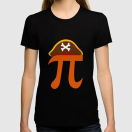 Pi Pirate Crossbone Science Geek Algebra Sign Symbol T-shirt