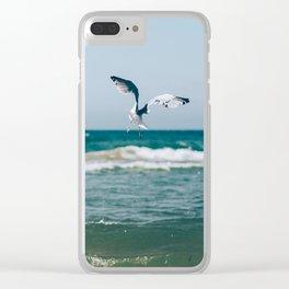 Gull Flight Over Lake Michigan Clear iPhone Case