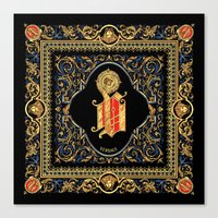 versace Canvas Prints featuring Versace Classic by Goldflakes