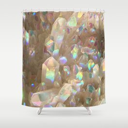 Unicorn Horn Aura Crystals Shower Curtain