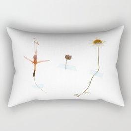 Wild flower triptych Rectangular Pillow