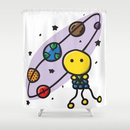 SEEDZ - ORBITZ Shower Curtain