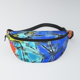 Abstract 3D Eagle Pixelized Graphic Fanny Pack