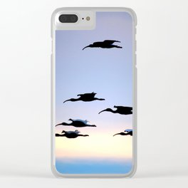Evening Flight Clear iPhone Case