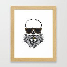 Bearded Skull Framed Art Print