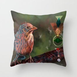 Wander Bird Throw Pillow