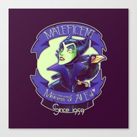 maleficent Canvas Prints featuring Maleficent by KanaHyde