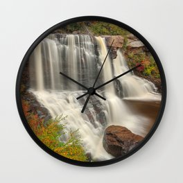 Blackwater Autumn Falls Wall Clock