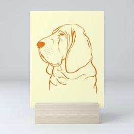 Bloodhound (Pale Yellow and Orange) Mini Art Print