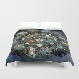 """Astrological Mechanism - Zodiac"" Duvet Cover"