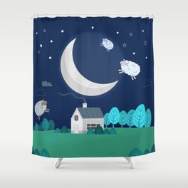 What The Sheep Do While You Sleep Shower Curtain