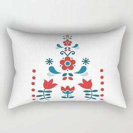 Retro Nordic Folk Rectangular Pillow