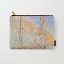 1891-Claude Monet-Poplars-74 x 93 Carry-All Pouch