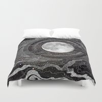 bright Duvet Covers featuring Moon Glow by brenda erickson