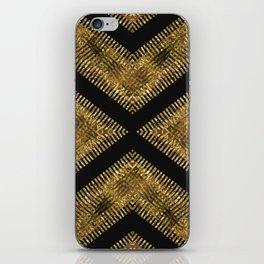 Black Gold   Tribal Geometric iPhone Skin