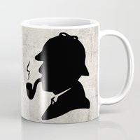 conan Mugs featuring World's Greatest Detective by Irina Chuckowree