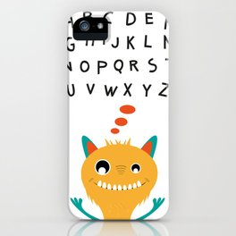Sweet monster and alphabet iPhone Case