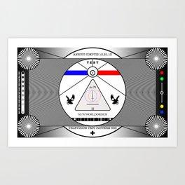 New World Order TV Test Pattern. Art Print