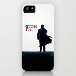 Sherlock: Goodbye John iPhone Case