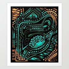 Ancient Tanscape Art Print