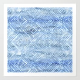 Drawn Diamond Chambray Art Print